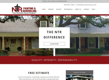 Website Redesign: NTR Painting & Remodeling