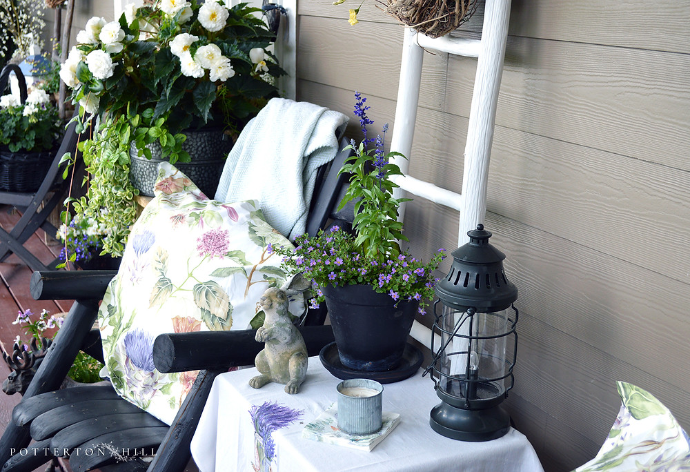Summer front porch for afternoon tea_PottertonHill.com