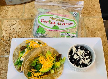 Recipe: Beef Tacos with Cactus Tortillas