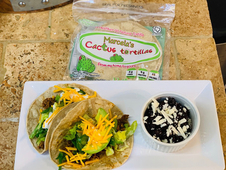Recipe: Beef Tacos with Cactus Tortillas