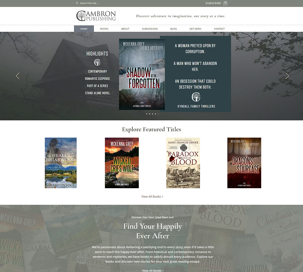 Cambron Publishing - website by Potterton Creative