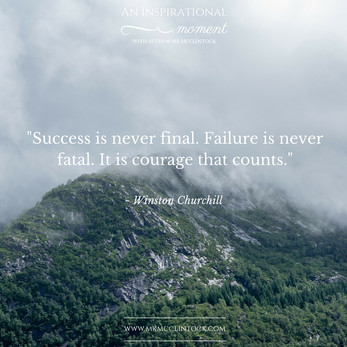 Courage Is What Counts