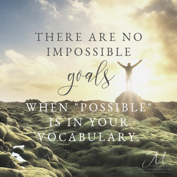 """Believe in the """"Possible"""""""