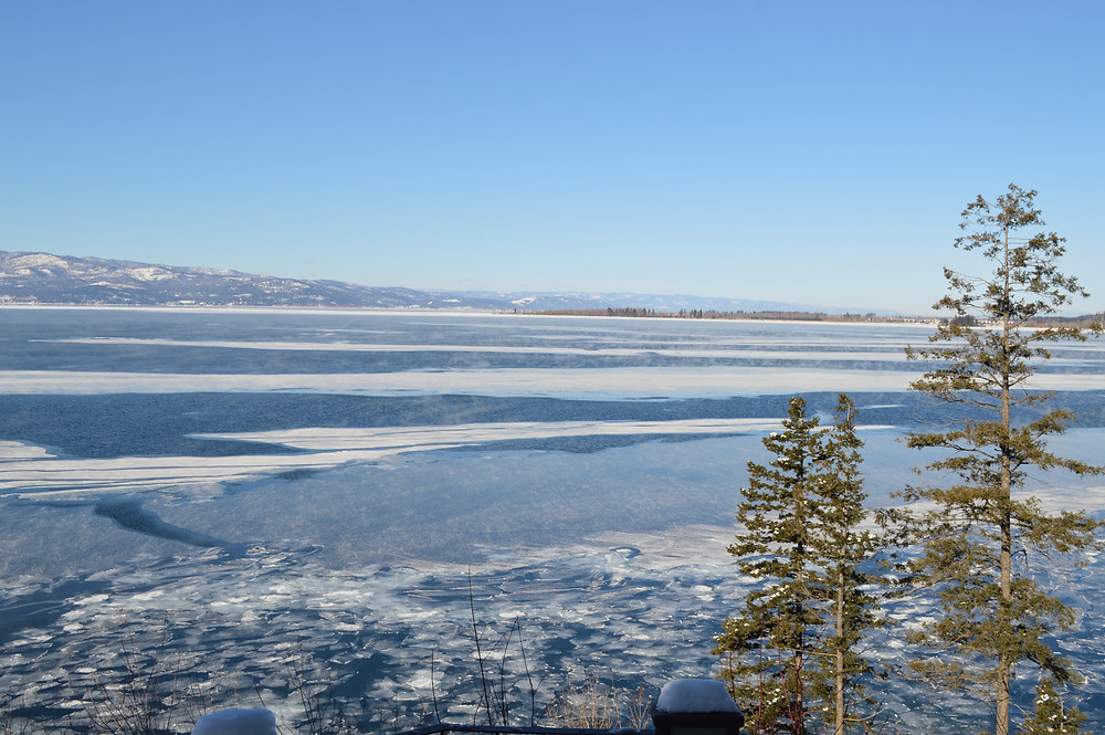 Frozen Flathead Lake, Photo by MK McClintock