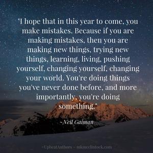 New Year's Procrastination ~ #UpbeatAuthors