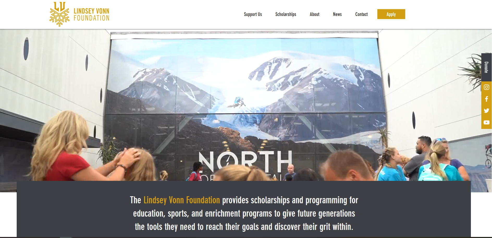 Lindsey Vonn Foundation website.png