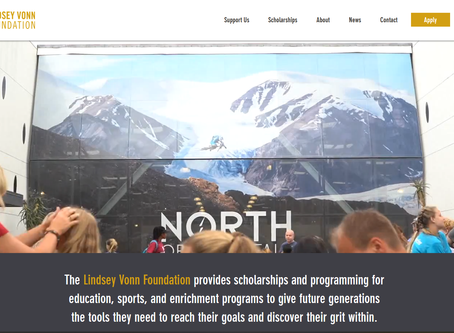 Website Redesign: Lindsey Vonn Foundation