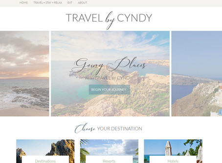 Website Design: Travel by Cyndy