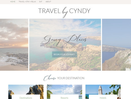 Website Design: Travel by Cyndy
