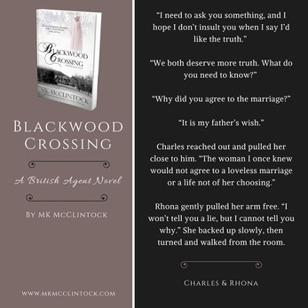 British Agent Novel Bits & Bobs: BLACKWOOD CROSSING