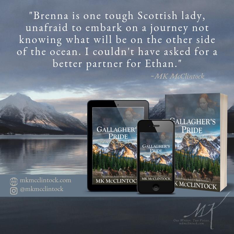 Gallagher's Pride - historical western romance novel - MK McClintock