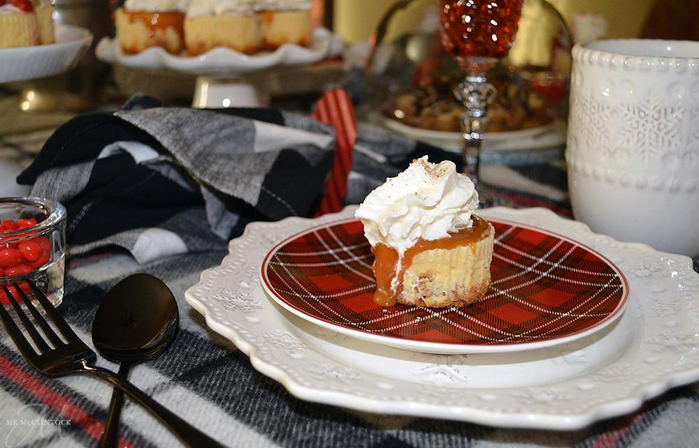 Valentine's Day mini cheesecakes - MK McClintock - Writer in the Kitchen