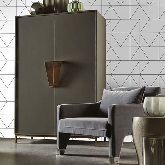 Kelly Hoppen's Geo Black & White Wallpaper