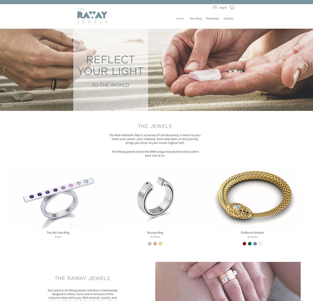 The RAway Jewels - website redesign by Potterton Creative