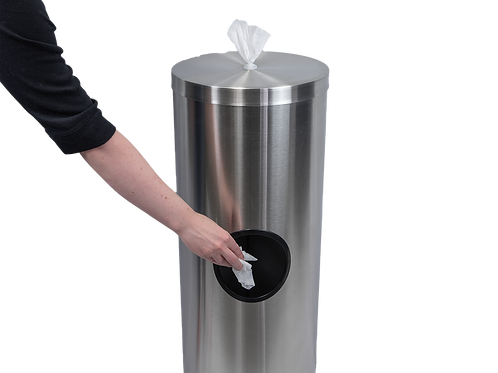 Stainless Steel Wipes Dispenser & Wipes