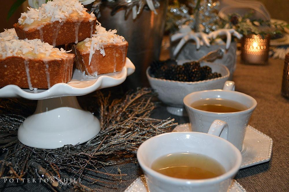 Winter Tablescape and Coconut Pound Cake_PottertonHill.com