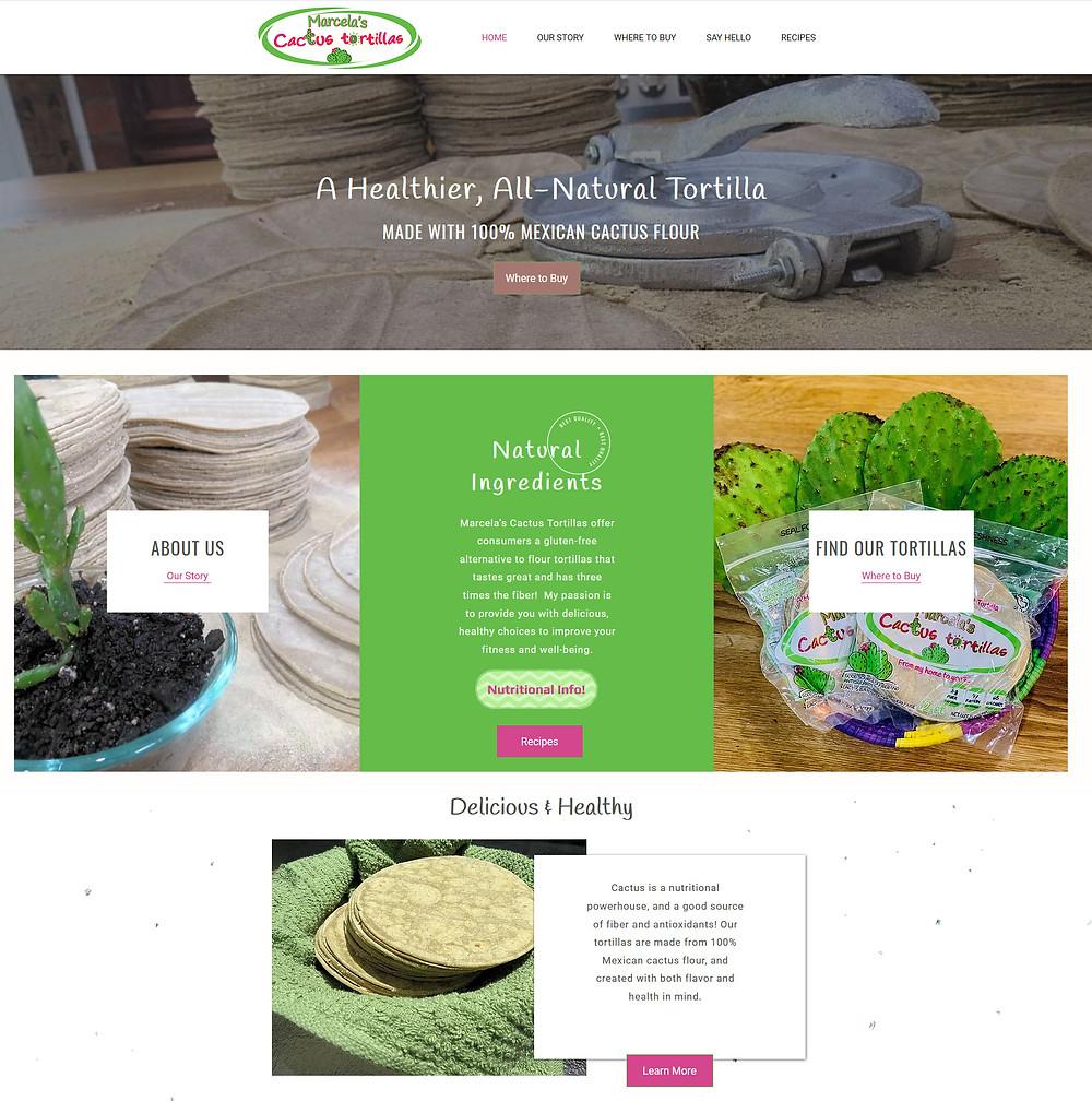 Marcela's Cactus Tortillas Website