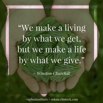 Generous Heart. Generous Mind. ~ #UpbeatAuthors