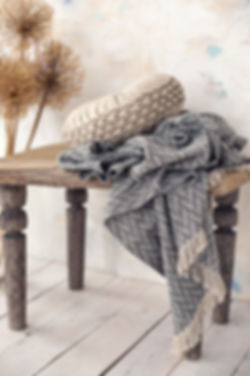 Adorable summer blanket in rustic farmho