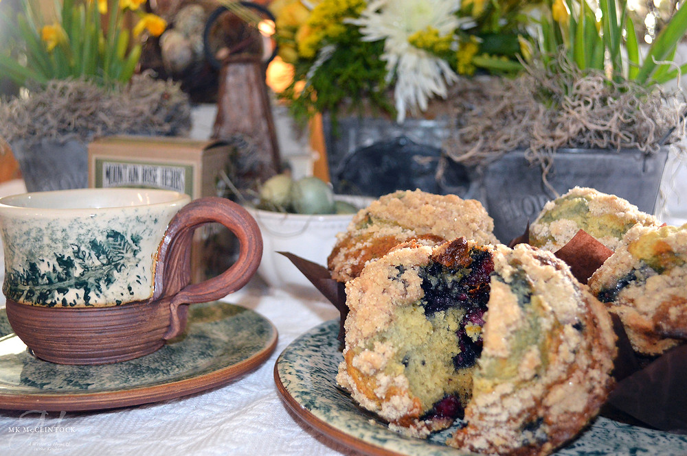 Three-Berry Muffins - Writer in the Kitchen - ©MKMcClintock