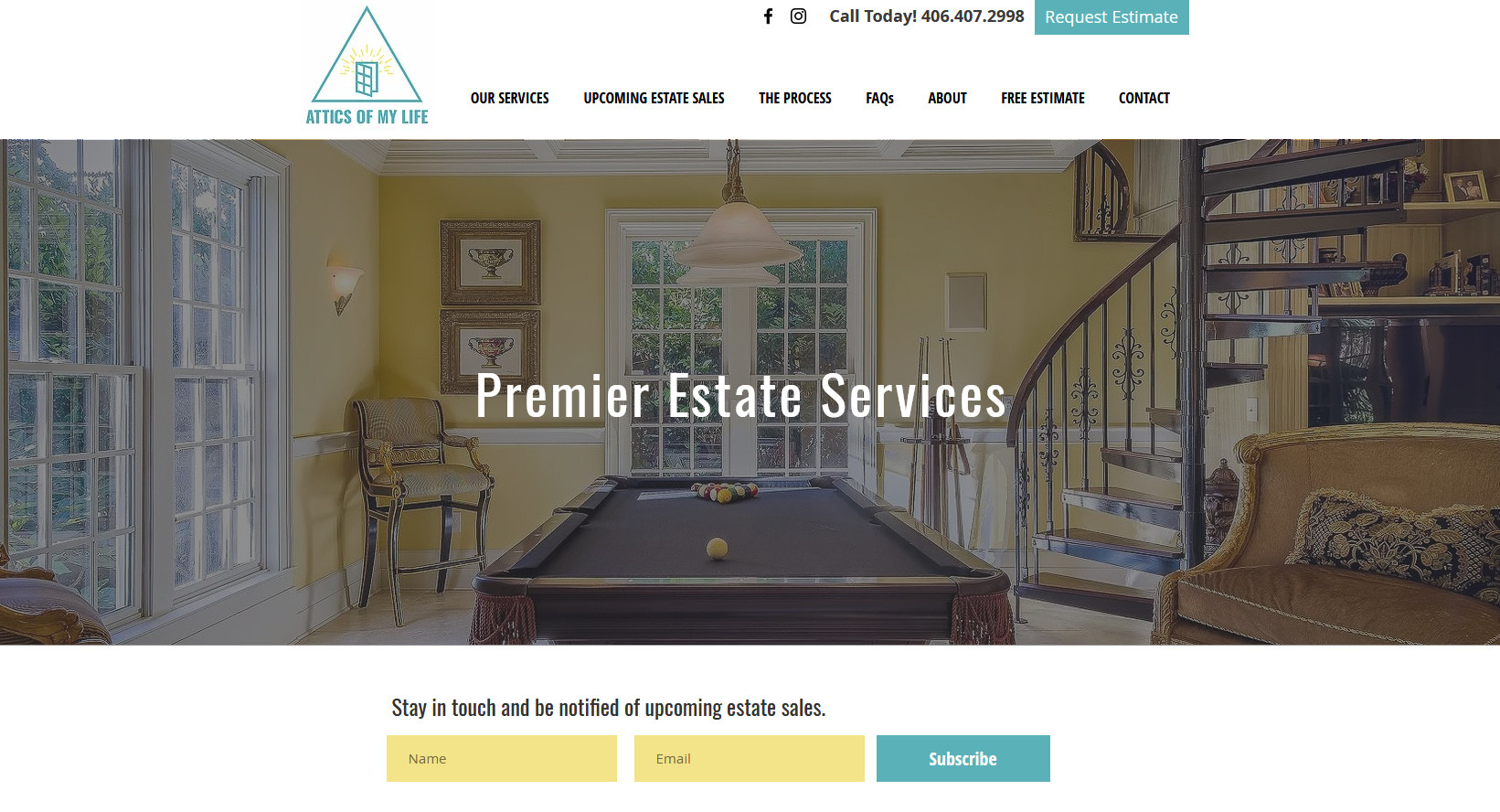 Attics of My Life estate services websit