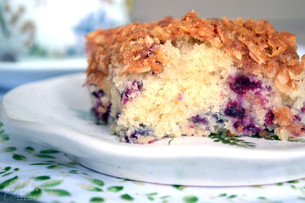 Huckleberry Coffee Cake ~ Writer in the Kitchen