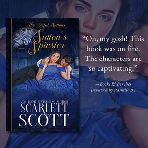 SUTTON'S SPINSTER by Scarlett Scott - A Reader's Opinion