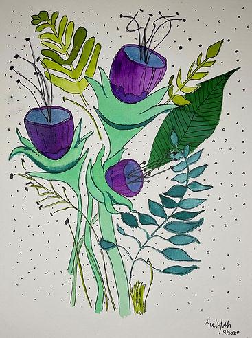 Pen & Ink Bouquet_print_Aviyah Art.jpg