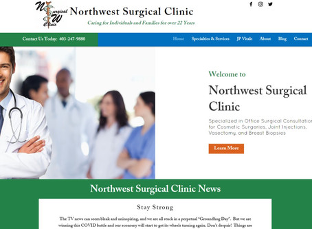 Website Design: NorthwestSurgicalClinic.com