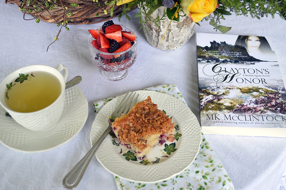 Tea Time with Clayton's Honor - ©MK McClintock #teatime #bookandtea #historicalromance