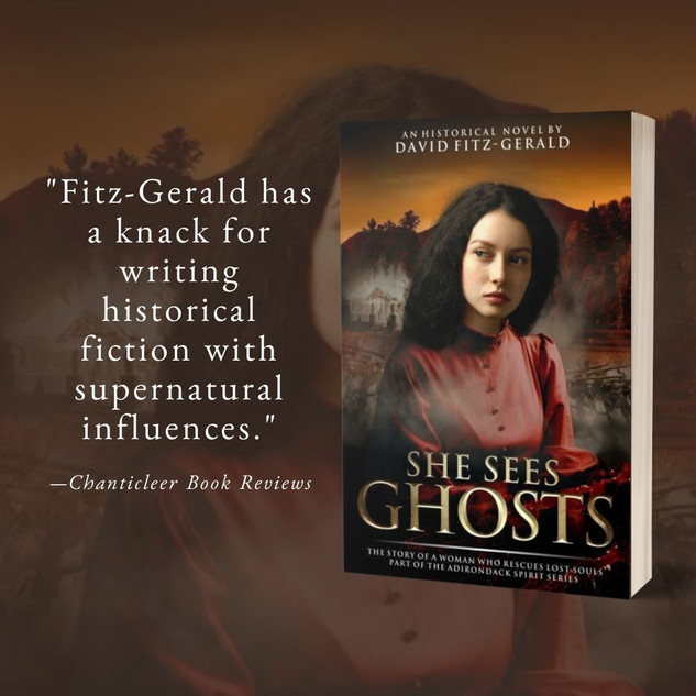 """""""Mesmerizing"""" - SHE SEES GHOSTS by David Fitz-Gerald - Excerpt + Interview"""