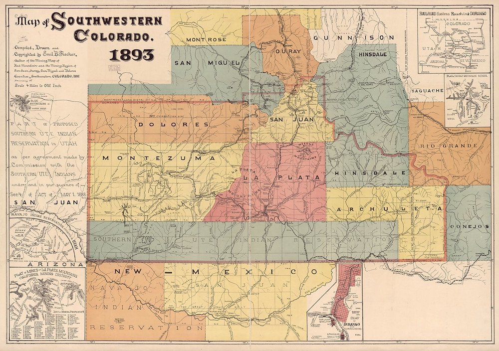 Map of Southwestern Colorado - Library of Congress, Geography and Map Division