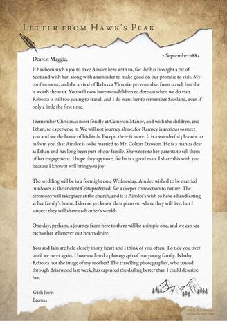 Letter From Hawk's Peak - September 2, 1884