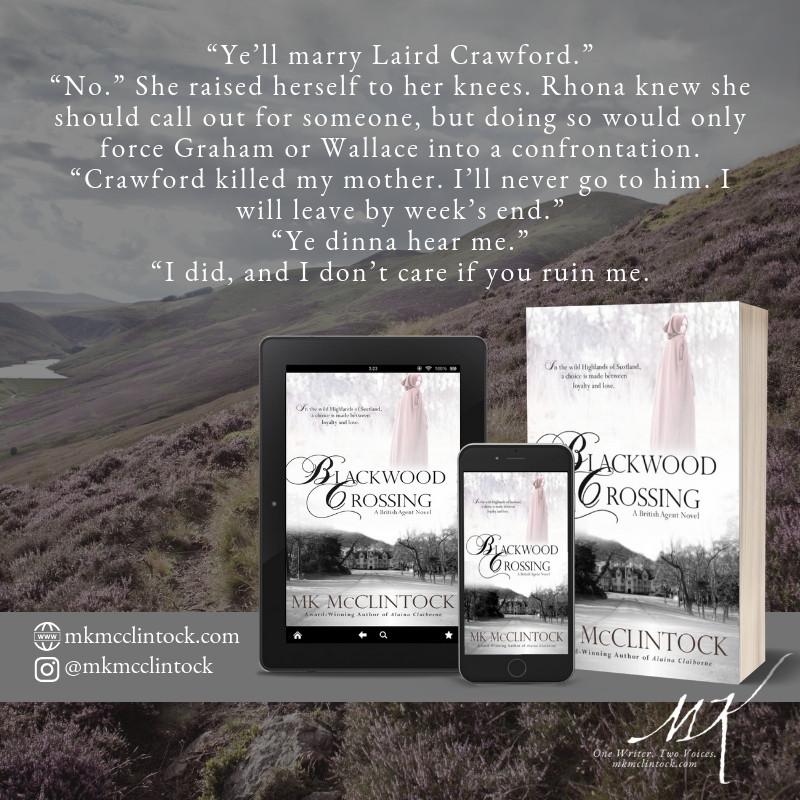 Blackwood Crossing by MK McClintock_historical romantic mystery novel