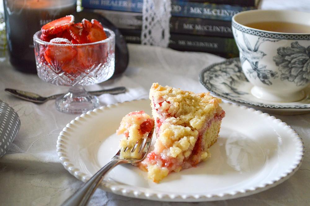 Strawberry Coffee Cake and tea - MK McClintock