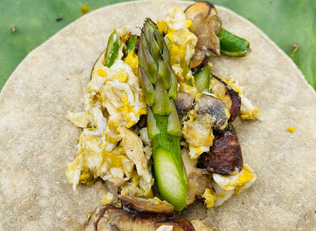 Recipe: Asparagus and Mushroom Breakfast Cactus Tortilla Tacos