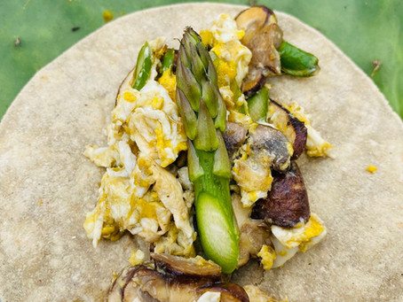 Recipe: Asparagus and Mushroom Breakfast Cactus Tortilla Tacos