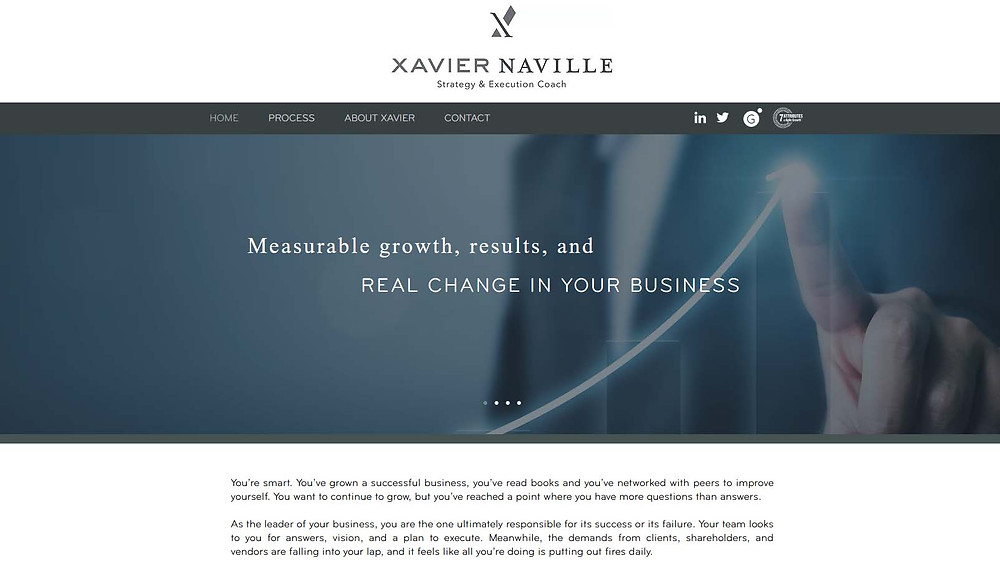 Xavier Naville - Strategy and Execution Coach - Website Design