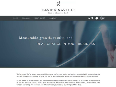 New Website: Xavier Naville - Strategy and Execution Coach