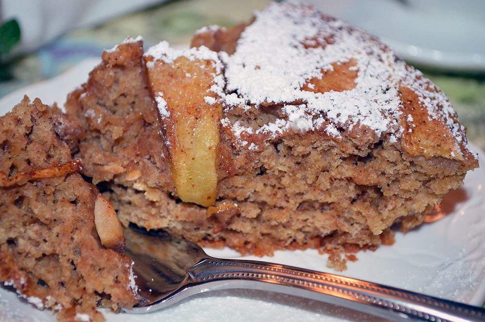 Irish Apple Cake - Writer in the Kitchen - MK McClintock