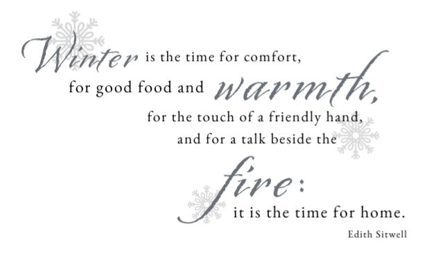 Edith Sitwell winter quote