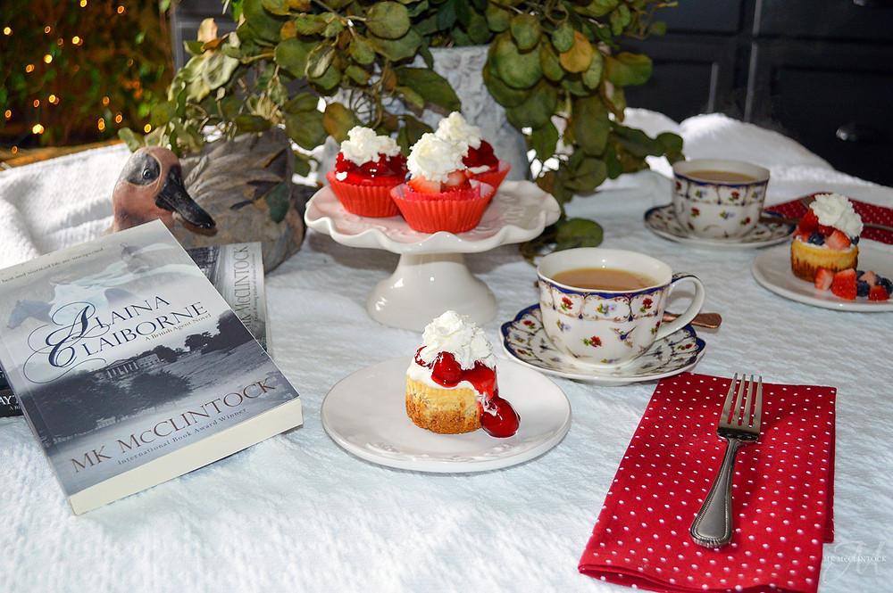 Book Break with ALAINA CLAIBORNE - Mini Cheesecakes
