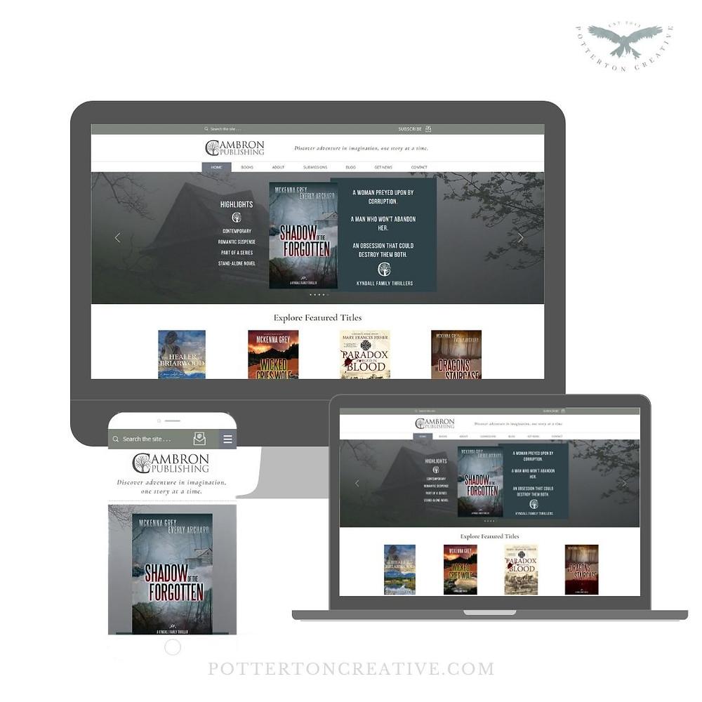 Cambron Publishing - website design by Potterton Creative