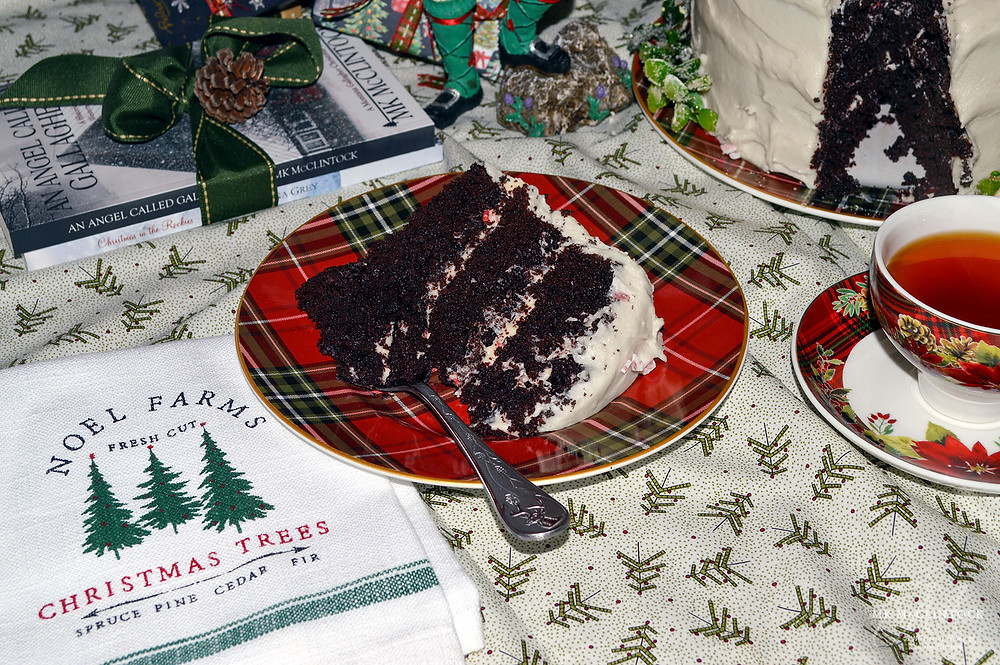 Chocolate-Peppermint Layer Cake ~ Writer in the Kitchen - MK McClintock