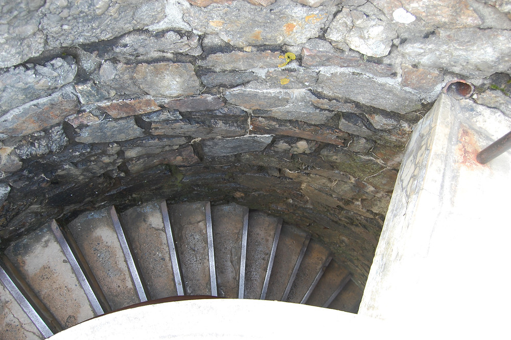 Stairs of Old Tower on Mount Battie_Camden, Maine