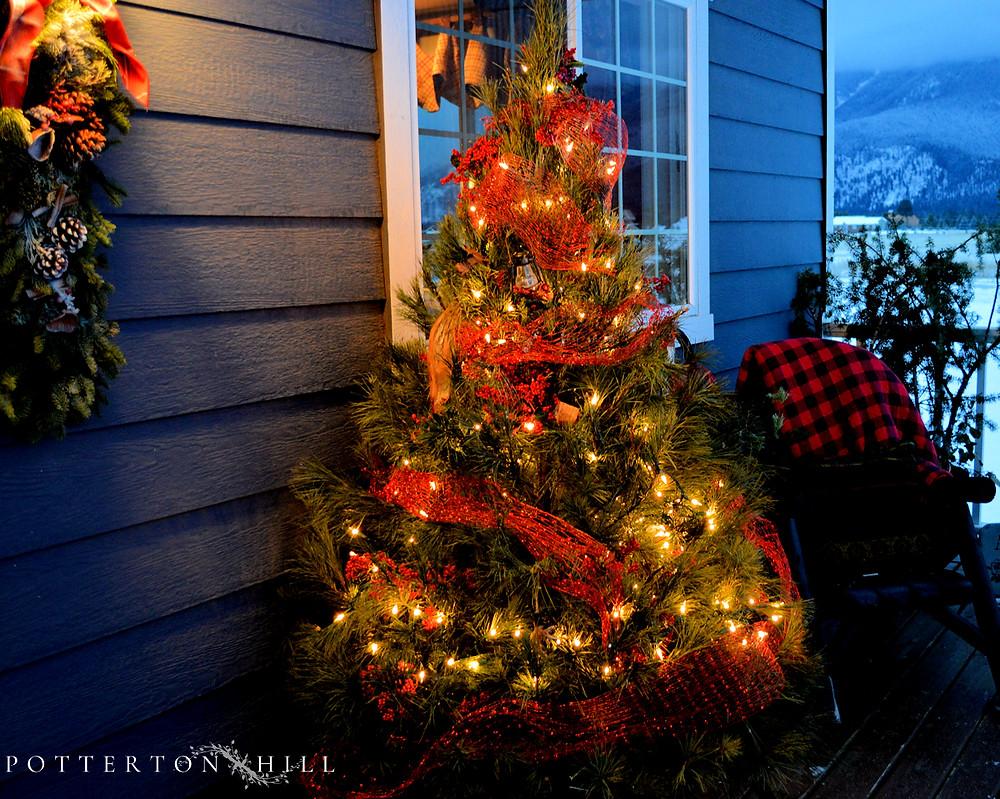 Christmas is Coming_PottertonHill.com_Christmas tree porch