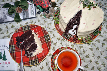 Chocolate-Peppermint Layer Cake ~ Writer in the Kitchen