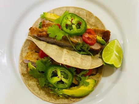 Recipe: Pork Milanesa Cactus Tortilla Tacos