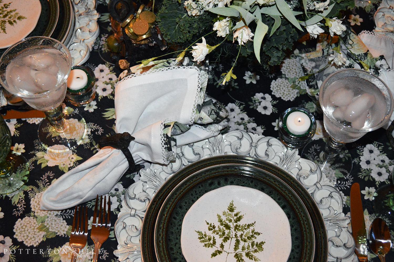 A Medley of Green Tablescape_PottertonHill.com