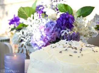 Lavender Lemon Coconut Layer Cake
